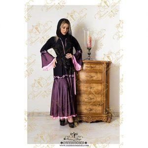 مدل مانتو رنگی کار شده عربی
