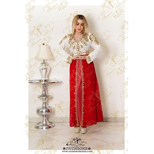 لباس سنگدوزی شده کمردار عربی