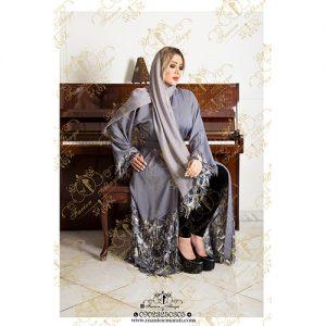 مدل مانتو مجلسی رنگی کار شده عربی