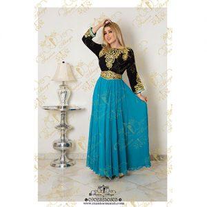 لباس مجلسی عربی رنگی
