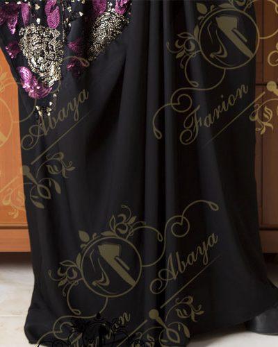 مانتو عربی رنگی کار شده مدل 263