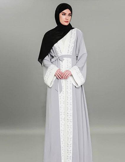مانتو عربی سفید