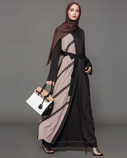 مانتو عربی رنگی