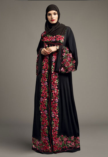 مانتو عربی رنگ شاد