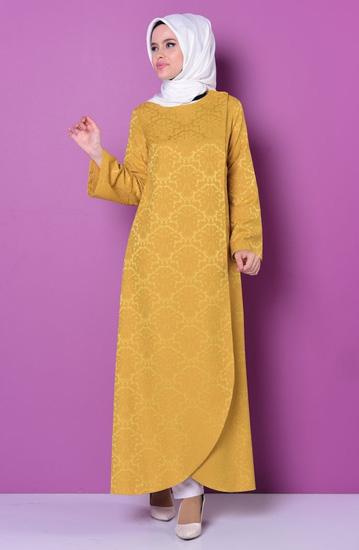 خرید مانتو عربی رنگی