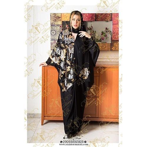 مدل مانتوی عربی رنگ کاری شده