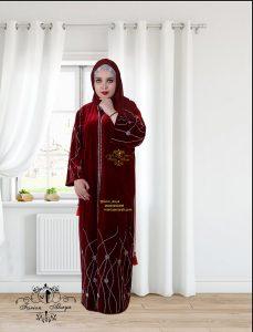 مانتو مخملی عربی