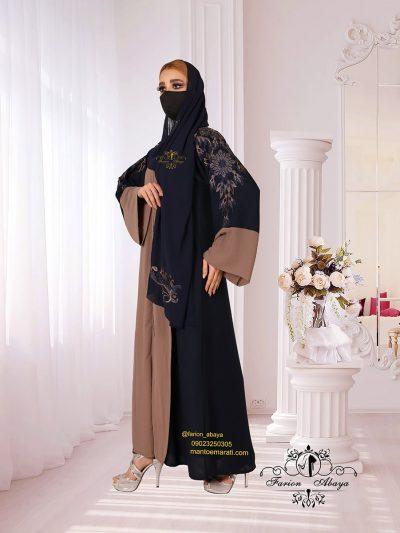 مانتو عبایی رنگی اماراتی مدل 304