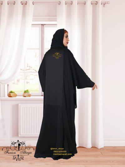 مانتوعبایی اماراتی جلو بسته مدل 301